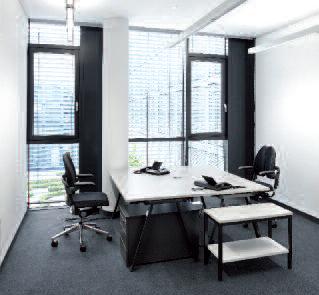 Zellenbüros Einzelbüro Konzentration Und Blockierte Kommunikation